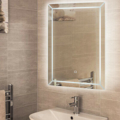 Bathroom LED Mirror Light Makeup Wall Mirror Electric Power Touch Sensor Switch