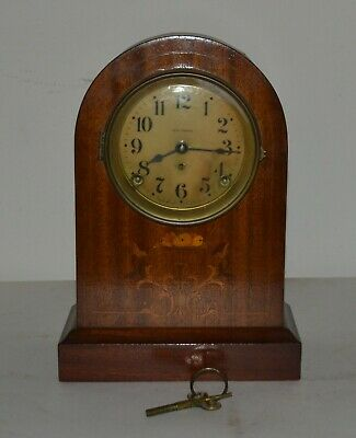 "1913 Seth Thomas Prospect No. 4 Antique 12"" Large Mantle Clock , Working"
