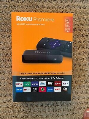 ROKU Premiere 3920RW 4K and HDR Streaming Media Player with Remote Control