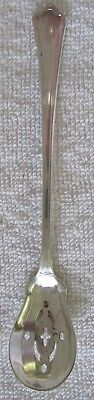 Concord Wallace sterling silver pierced olive spoon