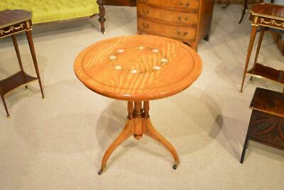 A satinwood and marquetry inlaid Victorian Period occasional table