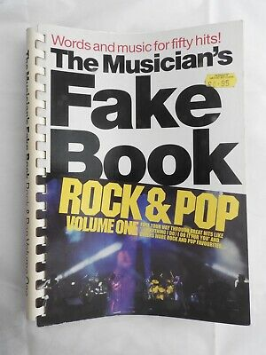 Musician's Fake Book - Rock & Pop Volume One - piano vocal guitar PVG