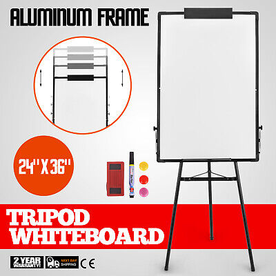 "24""x36"" Magnetic Writing Whiteboard Dry Erase w/ Height Adjustable Tripod Stand"