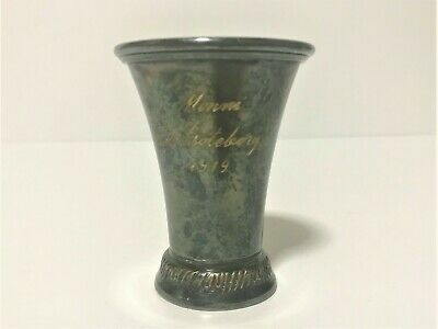 year 1919 silver antique vintage cup about 50g material unknown