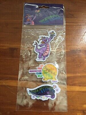 Disney Parks Figment Epcot Flower and Garden Festival Embroidered Patches. NEW.