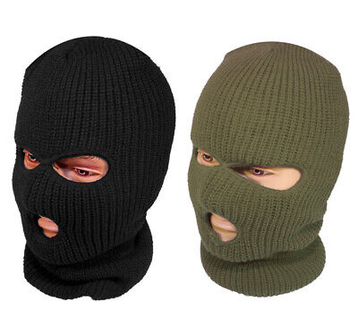 Mens SAS R40 3M Thermal Insulated Warm Full Face Balaclava Black or Green