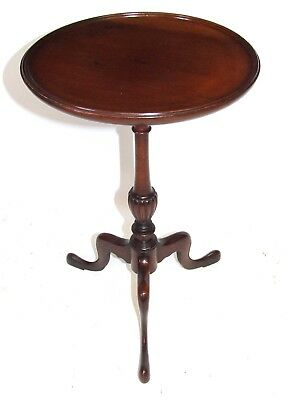 Antique EDWARDIAN Solid Mahogany Wine Occasional Table Lamp Stand (a74)