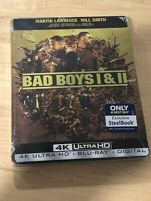 BAD BOYS 1 & 2 STEELBOOK 4K UHD / Blu-Ray Best Buy Exclusive - New/Sealed