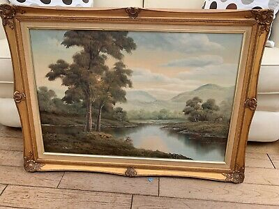 Large Oil Painting S Muller Framed And Signed See Description