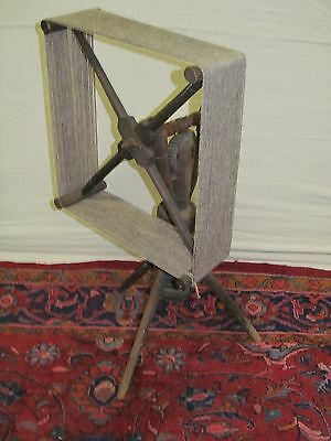 Ultra Rare Antique Shaker Primitive Yarn Winder Sewing Stand