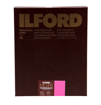 "Ilford Multigrade FB Warmtone Fiber Base Paper (8 x 10"", 100 Sheets, Glossy)"