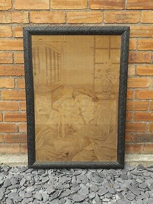 Victorian Tapestry Solid Wood Frame Antique
