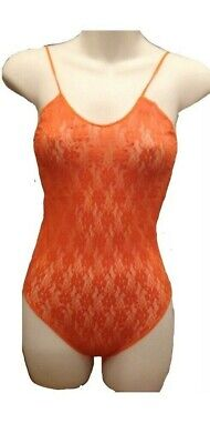 Vintage Mary Quant Orange Lace Body Stocking  Festival ,Dance ,Clubbing . NEW