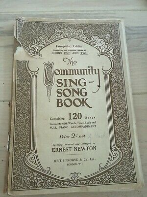 Vintage COMMUNITY SING SONG BOOK  Books One & Two 120 Songs  Ernst Newton PIANO