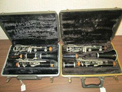 2 Clarinets for parts/repair--1 Bundy & 1 Evette Buffet