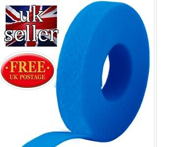 VELCRO Hook and loop ONE-WRAP® double sided Strapping 10metres x 10mm in blue