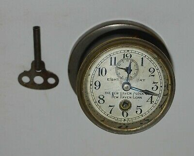 Antique 1912-18 New Haven Key Wind Eight Day Car Clock/Watch  Model T Ford