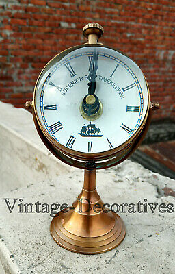 Maritime Brass Clock For Your Table Deoration Vintage Design Nautical Watch Type