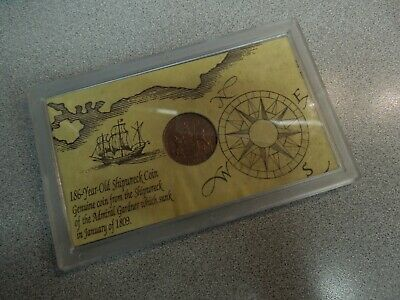 Genuine Coin From The 1809 Shipwreck Of The Admiral Gardner