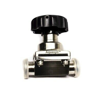 "Aquasyn 1.5"" 316L Stainless Steel Diaphragm Valve Sanitary Applications"