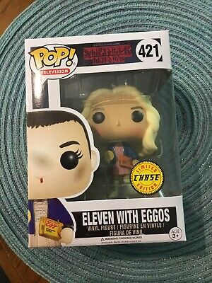 Funko POP! Figure NIB Television Stranger Things ELEVEN with EGGOS #421 CHASE