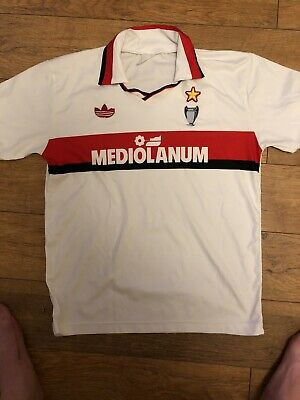 Retro Football Shirt AC Milan 1990-1991 Classic Away Soccer Jersey Top