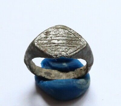 Ancient Decorated Lead Ring