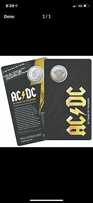 2018 50 Cent AC/DC Coloured Uncirculated Coin - 45 Years of Thunder2 listings!
