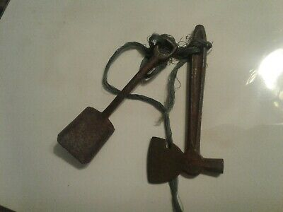 1890's Victorian Cast Iron Salesman Sample Hatchet & Shovel Original Antique!