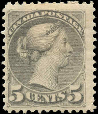 Mint H Canada F+ Scott #42 5c 1888-1897 Small Queen Issue Stamp