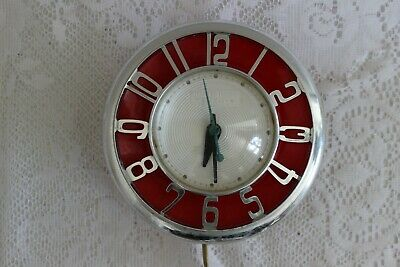 Vintage General Electric Telechron Electric Wall Clock, Model 2H45