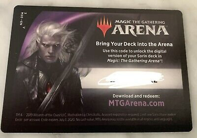 ONLINE CODE MAGIC MTG ARENA Sorin Planeswalker Deck CORE SET 2020 M20 Email Only