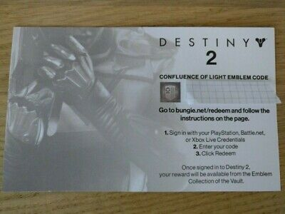 Destiny 2 Confluence of Light Exclusive Emblem Code from PAX 2017