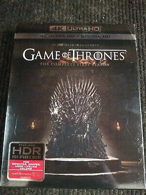 Game of Thrones 1st First Season 1 4K UltraHD + Digital BRAND NEW SEALED