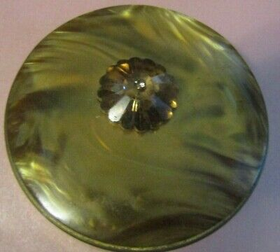 "Vintage 1950'S Genuine Mother Of Pearl By Schildkraut Compact 2 5/8"" Round"