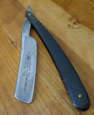 Vintage Frederick Reynolds For Barbers Use Sheffield Straight Razor