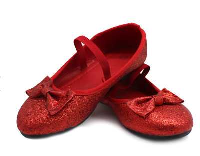 DELUXE WIZARD OF OZ DOROTHY Red Flats Ruby Slippers Halloween Book week Glitter