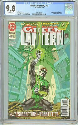 Green Lantern #48 CGC 9.8 White Pages (1994) 2047295020 1st Kyle Rayner