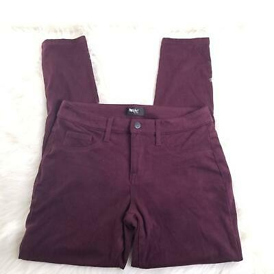 Mossimo Dark Purple Suede Feel Super Stretch Skinny Pants Size 2 B111