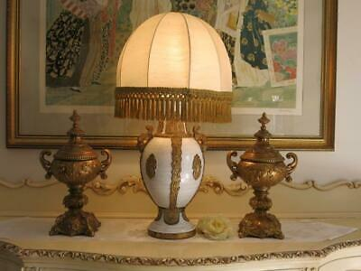 Very Unique French Style Ornate Brass Rococo - Urns - Vases - Heavy