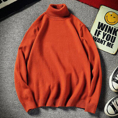 Thermal High Collar Turtleneck Pullover Long Sleeve Sweater Men's Stretch Shirts