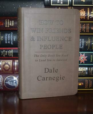 How to Win Friends Influence People by Dale Carnegi New Leather Bound Deluxe