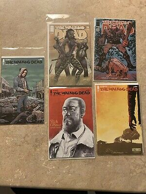 The Walking Dead Lot 192 1st &2nd Print, 193 1st Print, Also 19 & 100 Reprints