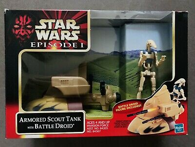 Star Wars EP 1, Armoured Scout Tank With Battle Droid. New In Box.