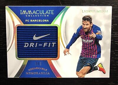 1/3 LIONEL MESSI 2018-19 Immaculate Soccer Nike Swoosh Tag Patch FC Barcelona