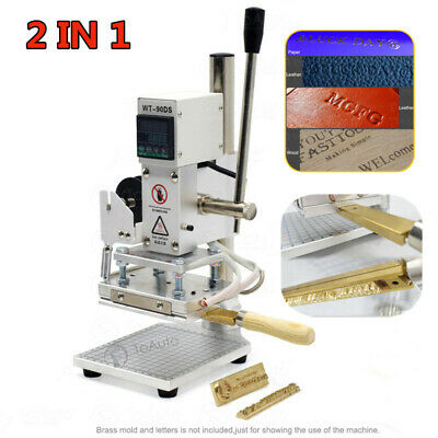T-slot Digital Hot Foil Stamping Machine Brass Letters Leather Logo Embossing