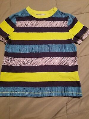 Okie dokie short sleeve boys 5t shirt  stripped blue green