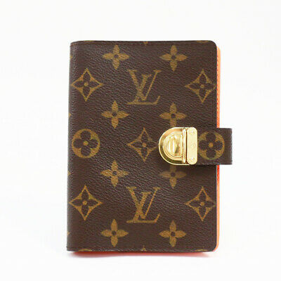 LOUIS VUITTON Monogram Agenda Coala PM R21015 Day Plannne Cover Brown Canvas