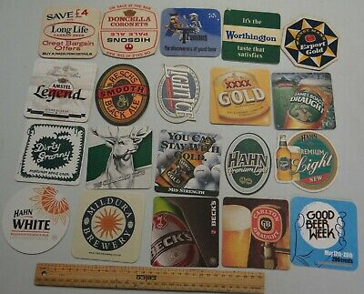 20 x DIFFERENT MIXED COLLECTABLE BEER COASTERS / MATS BB14