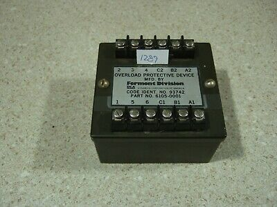Fermont 3 Ph Overload Relay - 6105-0001 NSN 5945-00-318-3050. For Generator.